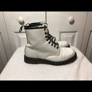 DR Martens White Ankle Boots Shoes Size 12